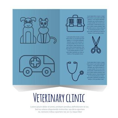 Veterinary pet health care animal medicine icons set isolated