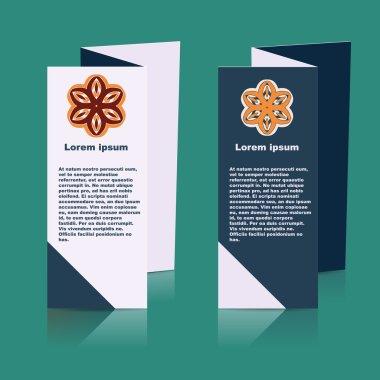Brochures design for social infographic, diagram, presentation