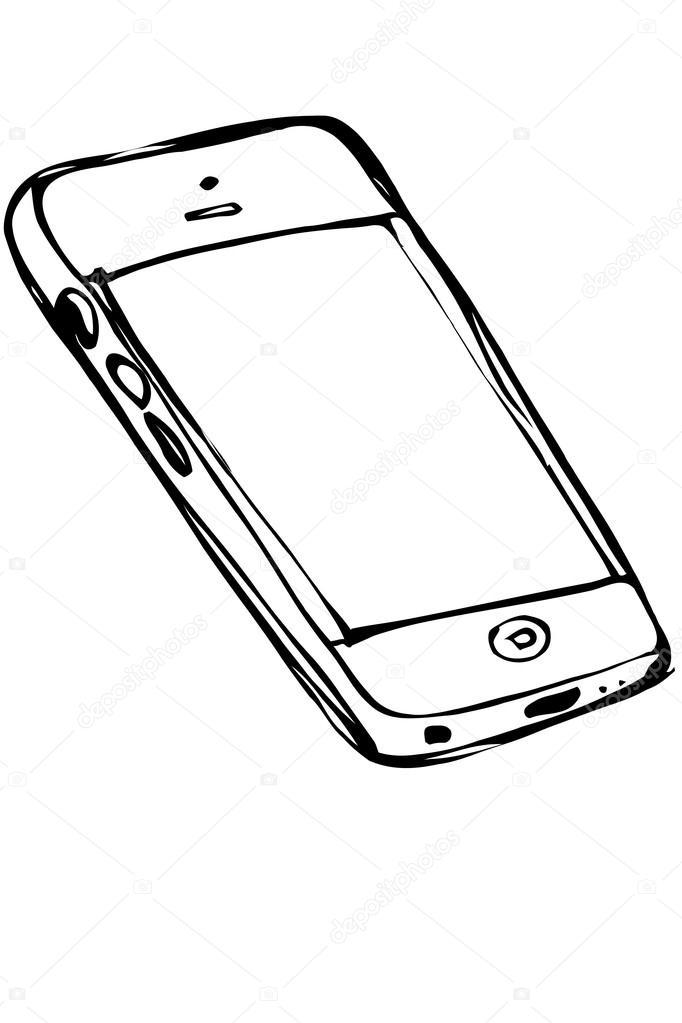 vector  dibujo tel u00e9fono m u00f3vil