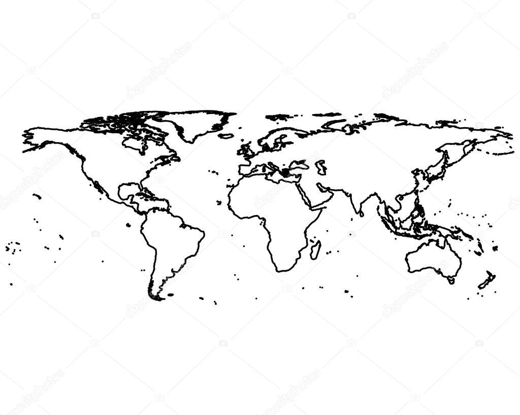 Mapa Mundi Mudo En Blanco Y Negro.Imagenes Mapamundi Grande Blanco Y Negro Mapamundi En
