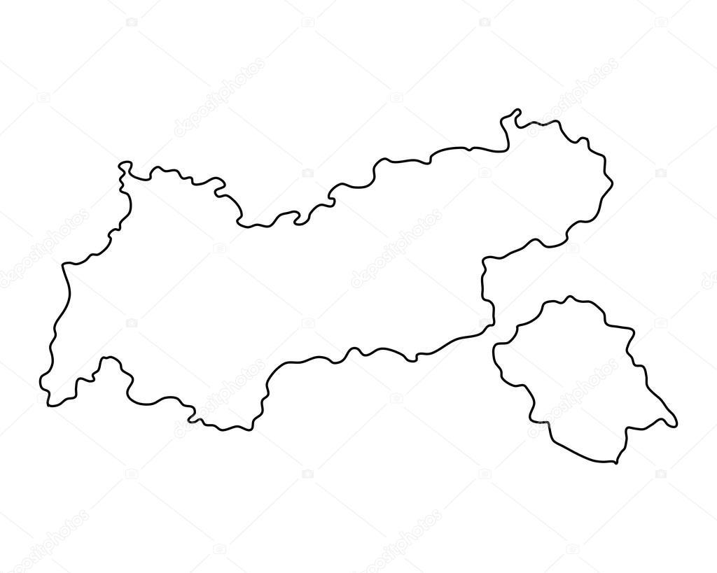 Karte Tirol.Genaue Karte Von Tirol Stockvektor Rbiedermann 108390016
