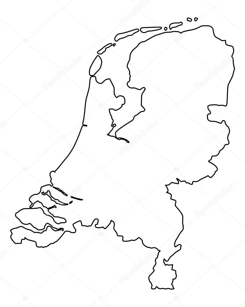 kaart nederland kleurplaat 28 afbeeldingen