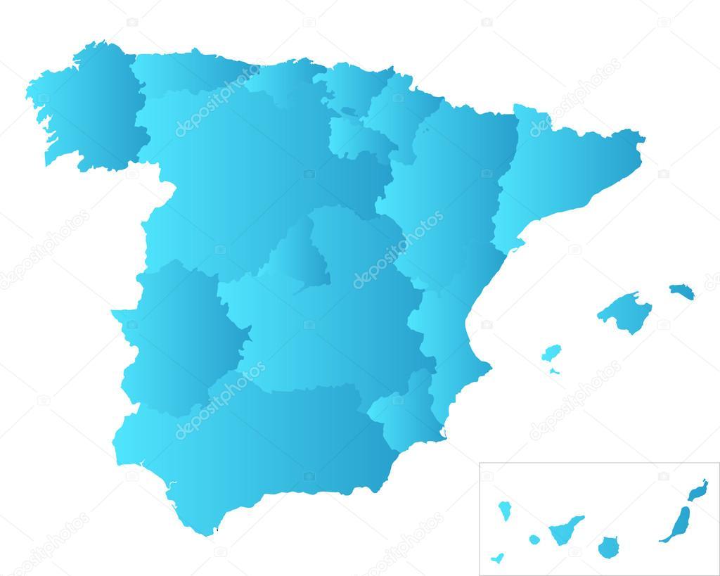 Spanien Lanzarote Karta.Karta Over Spanien Stock Vektor C Rbiedermann 80126932
