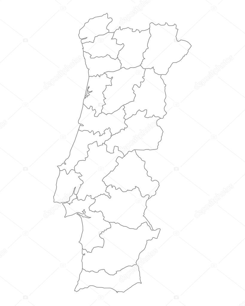 mapa de portugal vectorizado mapa de portugal — Vetor de Stock © rbiedermann #82922724 mapa de portugal vectorizado
