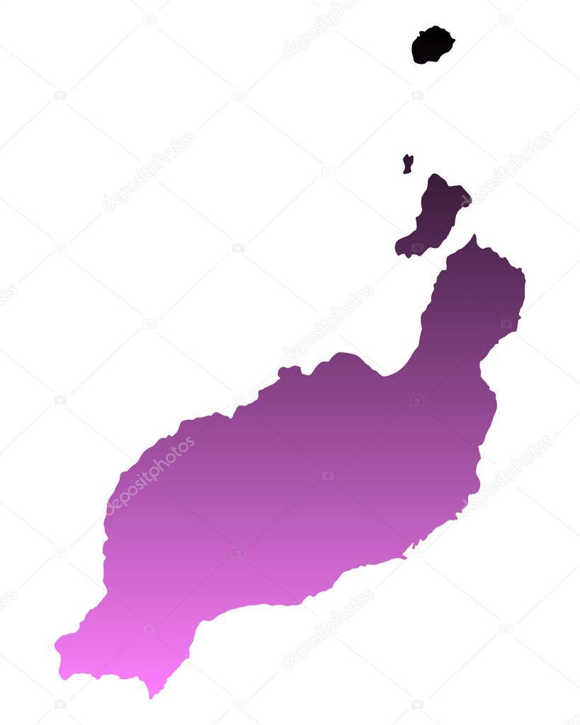 Spanien Lanzarote Karta.Karta Over Lanzarote Stock Vektor C Rbiedermann 86983564