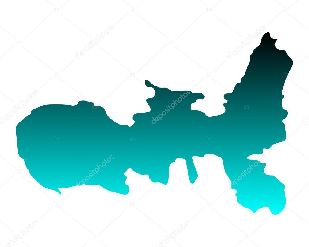 Elba Karte.Karte Von Elba Stockvektor Rbiedermann 91925360