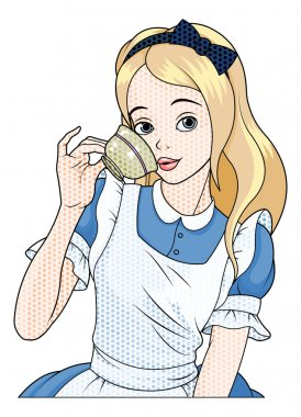 Alice takes a cup of tea