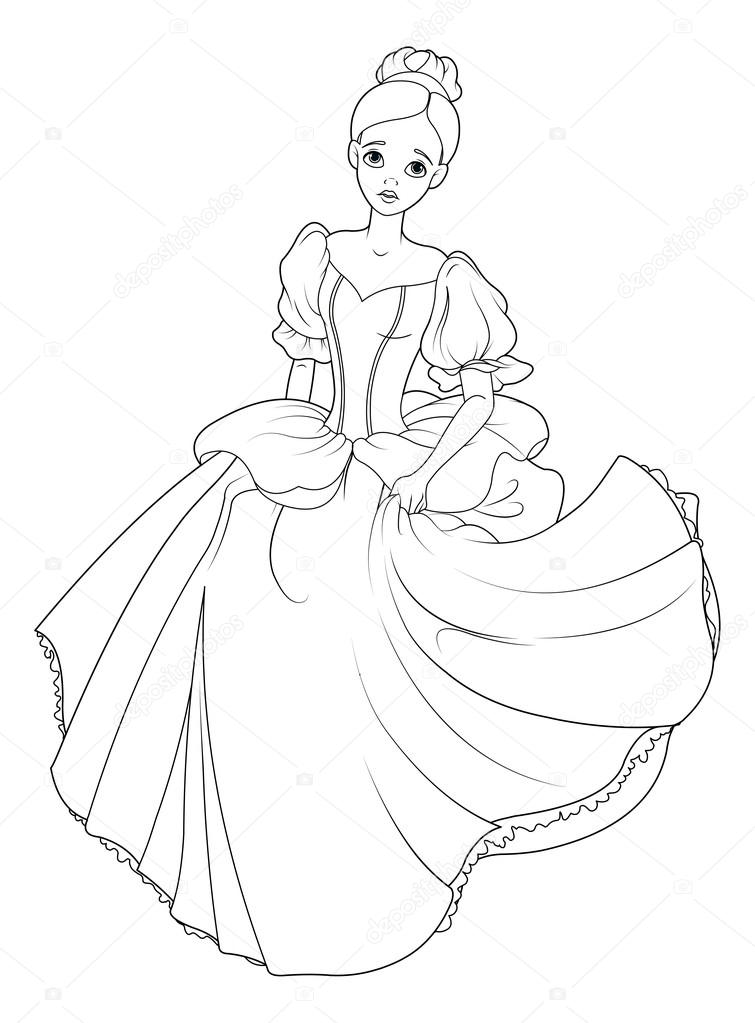 Cinderella Hurrying To Ball Stock Vector C Dazdraperma 113925698