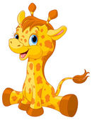 Malé roztomilé žirafy tele