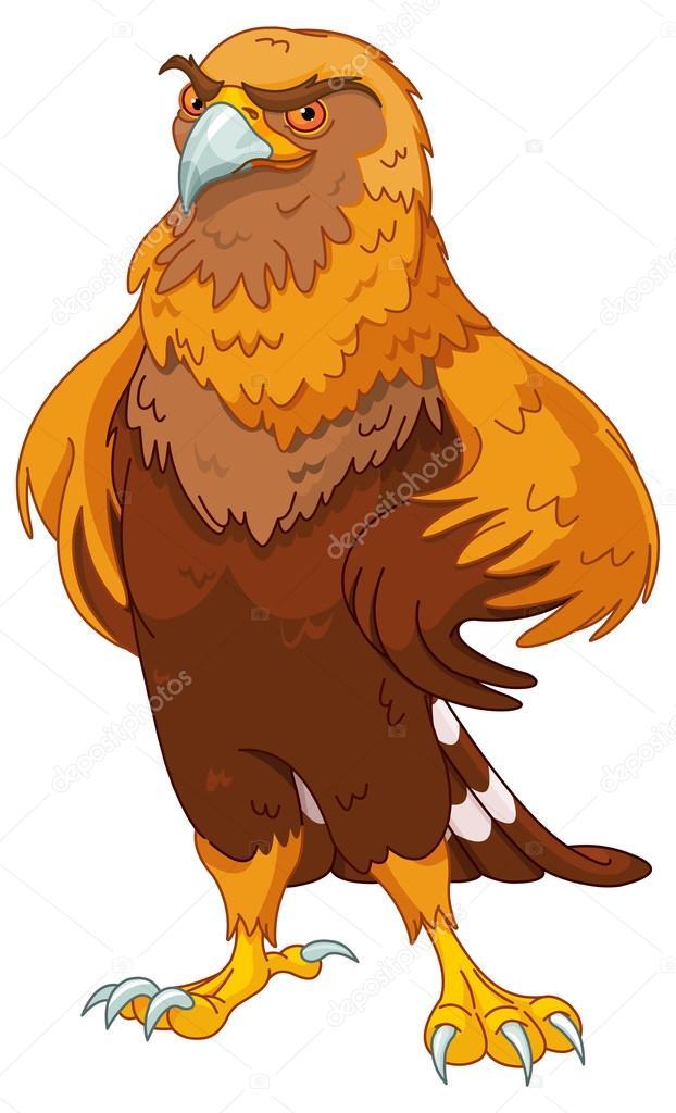 Beautiful golden eagle