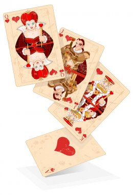 Hearts plays cards