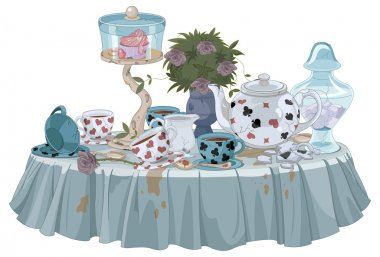 Wonderland Tea Party table