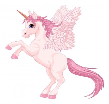 Beautiful pink Unicorn Pegasus