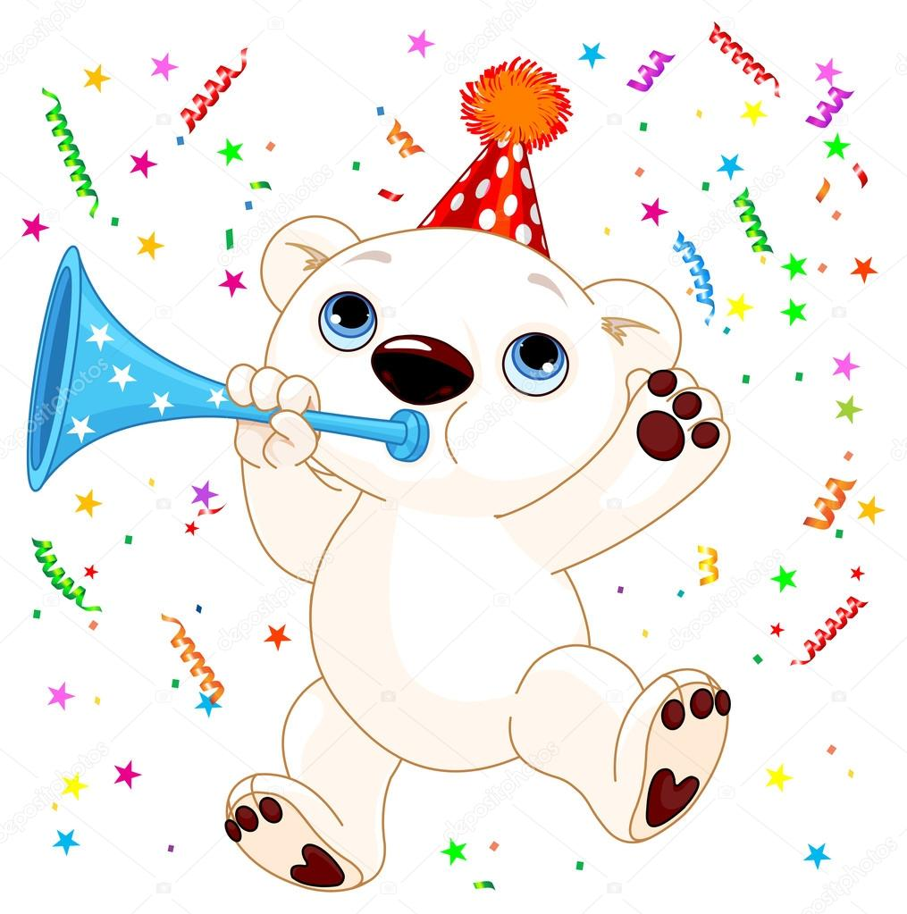 Медведи белые открытки с днем рождения, труда картинках для