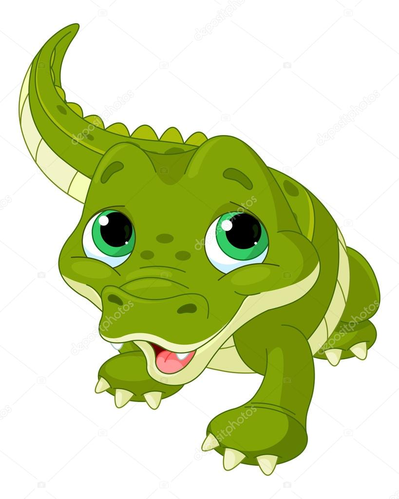 Cute baby alligator — Stock Vector © Dazdraperma #64461897