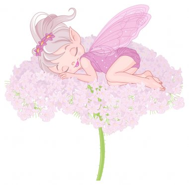 Cute sleeping Pixy Fairy