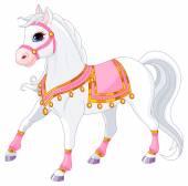 Krásný bílý královský kůň