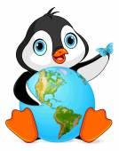 Fényképek Pingvin tartja a föld, föld napja