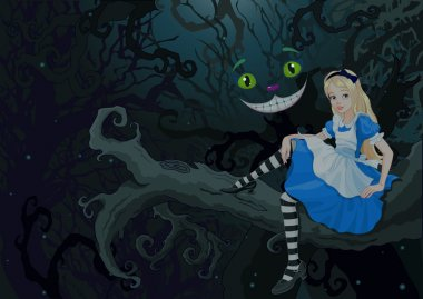 Alice sitting on a branch