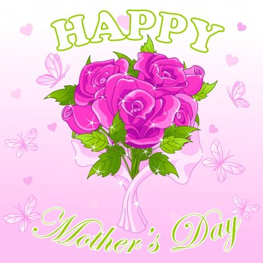 Happy mother's day design with roses