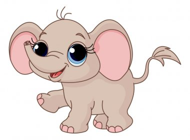 funny baby elephant