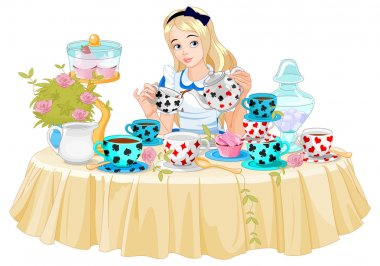 Alice pours tea