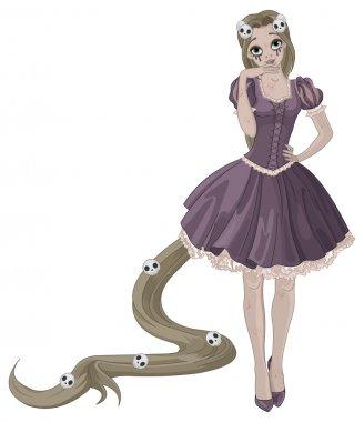 girl zombie Rapunzel