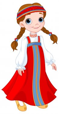 girl in Russian national dress
