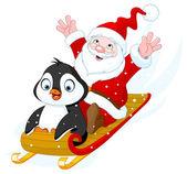 Fotografie Santa Claus and Penguin