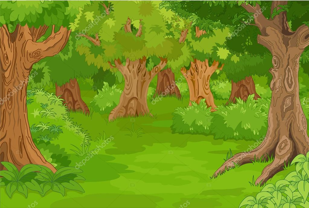 amazing forest glade