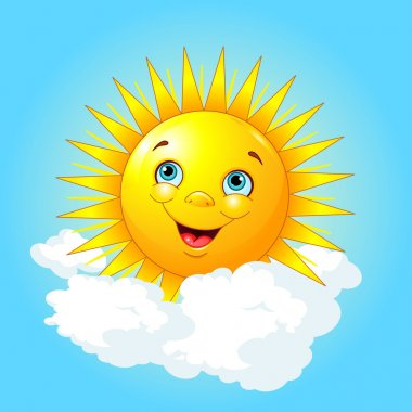 smiling sun on the cloud