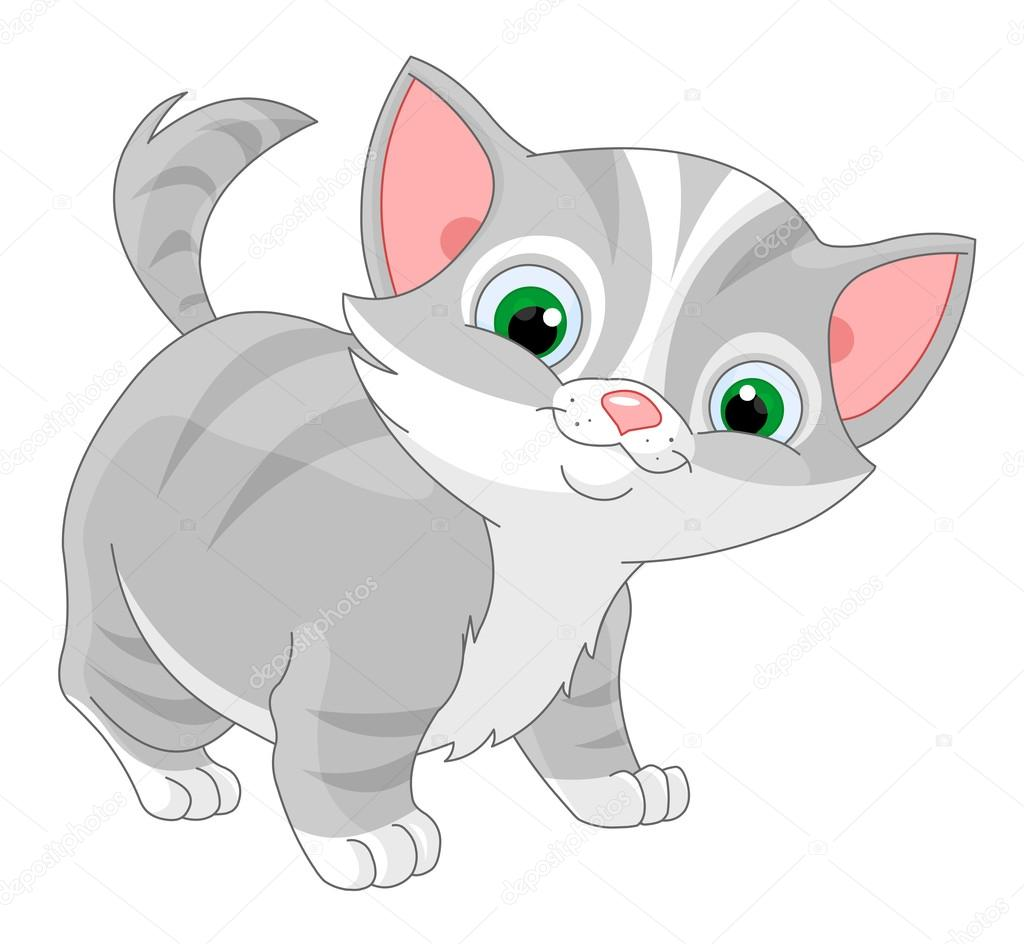 Kotek Grafika wektorowa - kotki dla dzieci wektory i ilustracje  royalty-free | Depositphotos