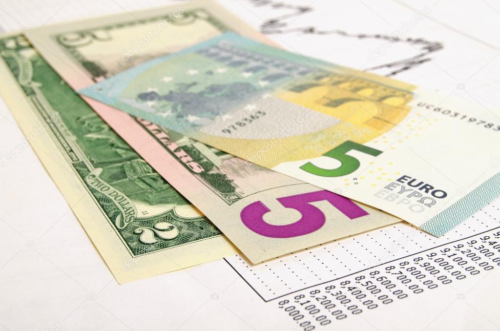 Euro Dollar Exchange Rate Stock Photo Rrraum 65139805