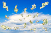 Peníze padající z oblohy