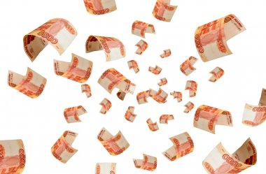 Rubles fall out of the air.