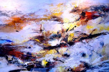 Fragment of abstract colour oil painting