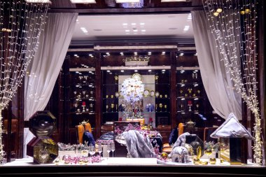 The beautifully executed shop-windows