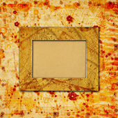 Abstract ancient background in scrapbooking style with chaotic o
