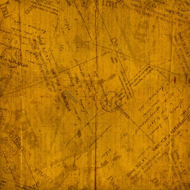 Vintage envelopes, old letters and torn documents