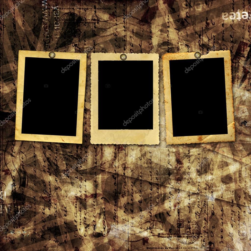 Antiguos marcos de papel para fotos sobre fondo abstracto - Marcos clasicos para fotos ...