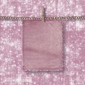 Fotografie Old postcard for congratulation on the grunge pink background