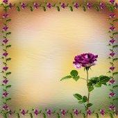 Rajz pasztell háttér gyönyörű Rózsa csokrok