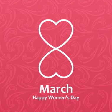 Womans day Vector cards templates. Women labels or posters
