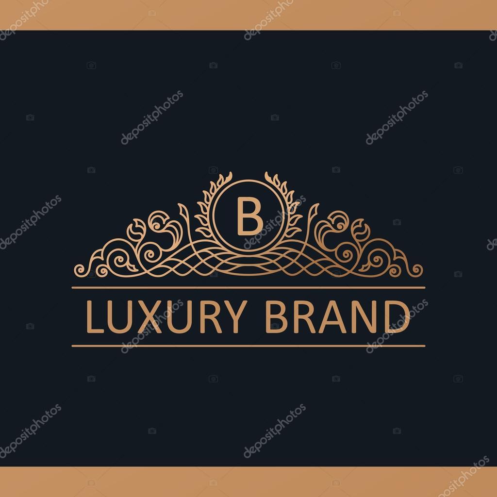 Marchio di lusso calligrafico elementi di arredamento for Logo arredamento