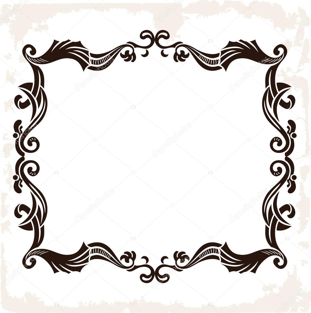 Vector vintage retro frame. Decorative background — Stock Vector ...