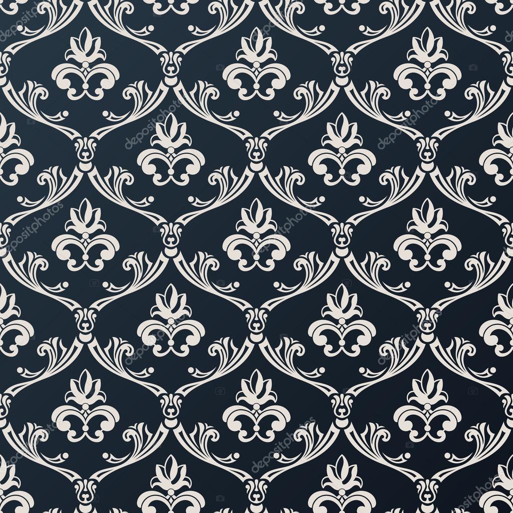 Design Sans Couture Papier Peint Floral Fond Forme Vector Noir