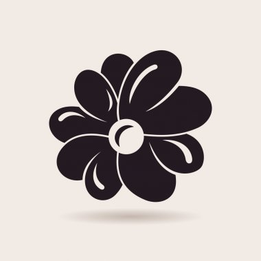 Flower logo. Vector sign emblem