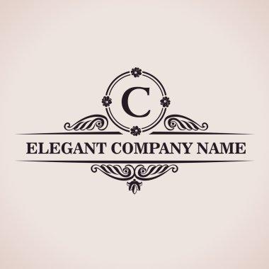Luxury logo. Calligraphic pattern elegant decor elements. Vintage