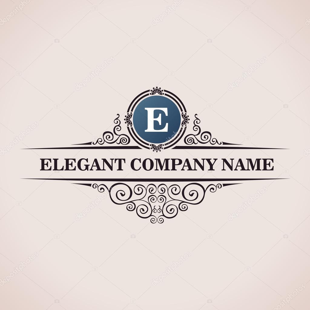 Luxury logo calligraphic pattern elegant decor elements for Decor logo