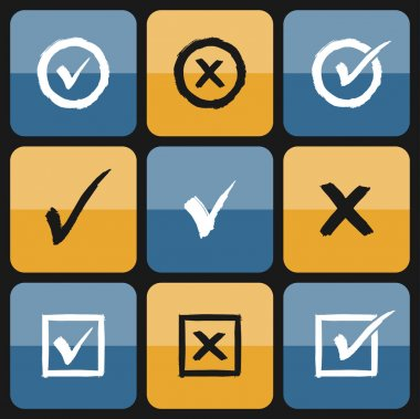 Vector checkbox Set of hand drawn Icons